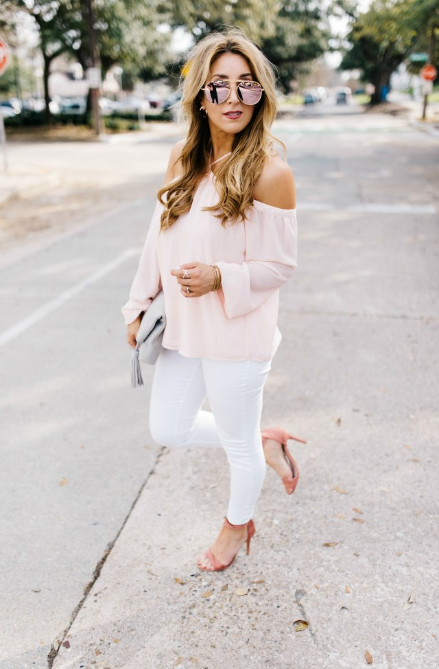 Pink Cold Shoulder Top | January Hart Blog