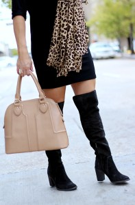 black over the knee boots   January Hart Blog