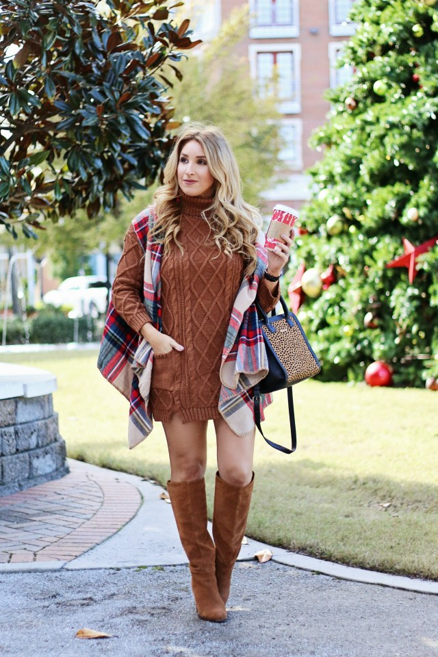 how to style a sweater dress | January Hart Blog