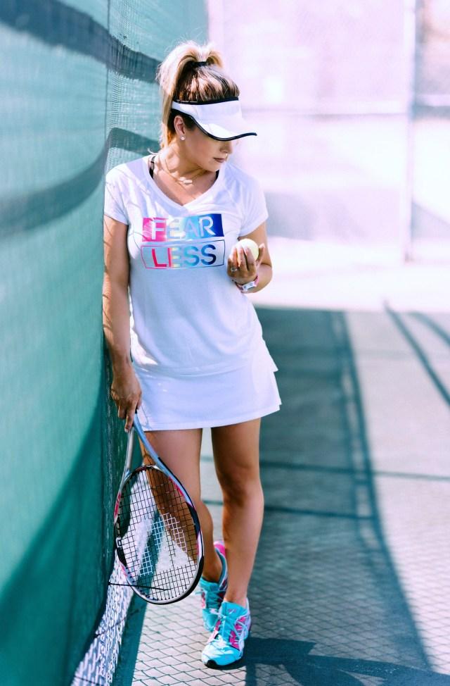 cute white tennis clothing