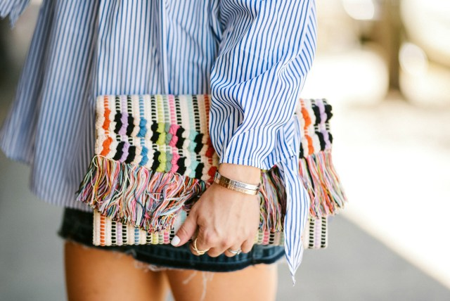 stella and dot Taj clutch