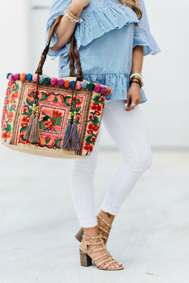 Pompom Tote Bag