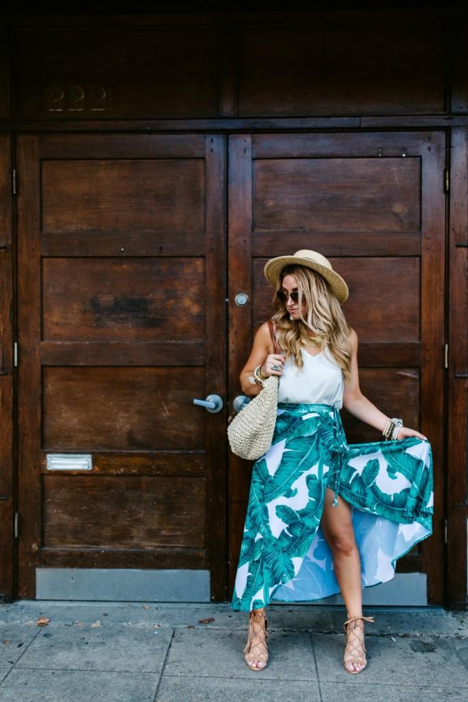 shein palm print skirt 5