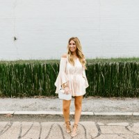 Off the Shoulder Blush Romper & NY Fashion Week Excitement