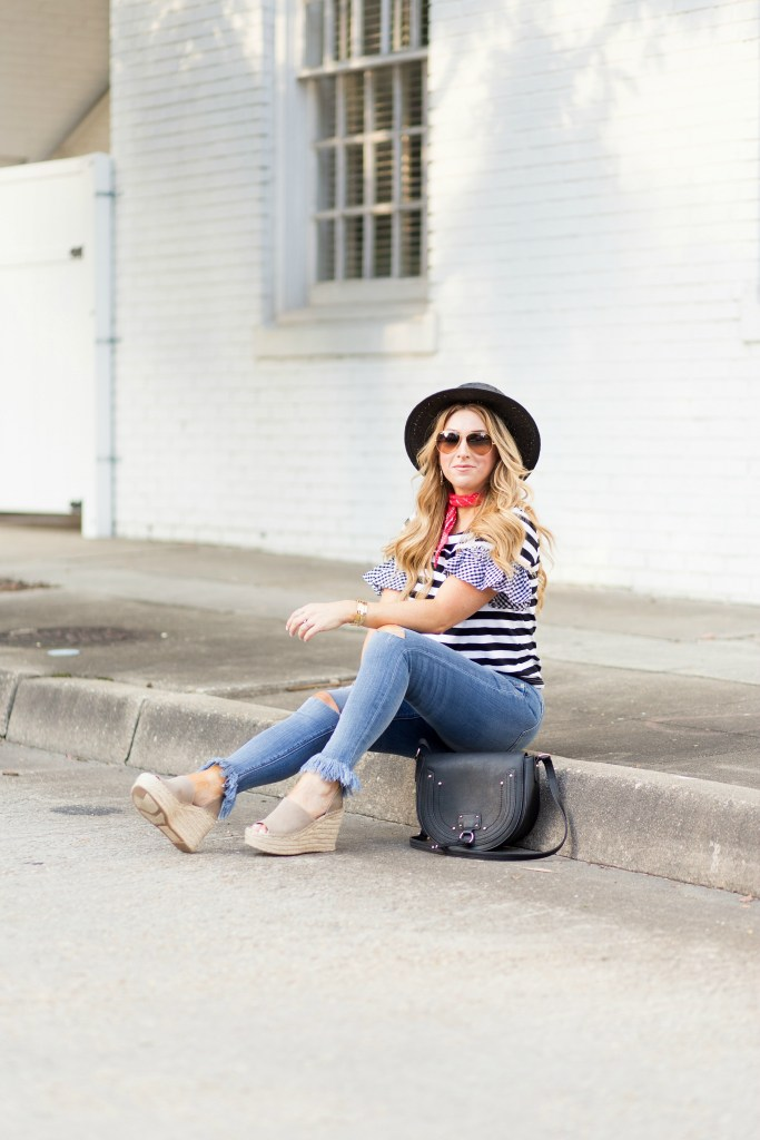 black white stripe top 7