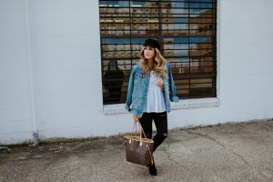 how to style a pearl embellished denim jacket
