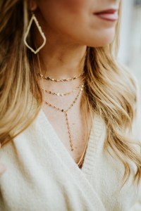 Layered Y Chain Necklace