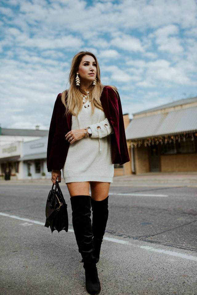 How to style a velvet blazer