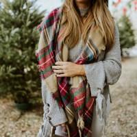 Winter Whites + Cozy Holiday Plaid