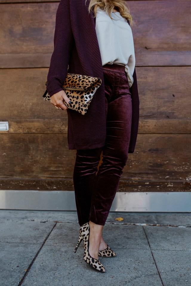 velvet wine pants