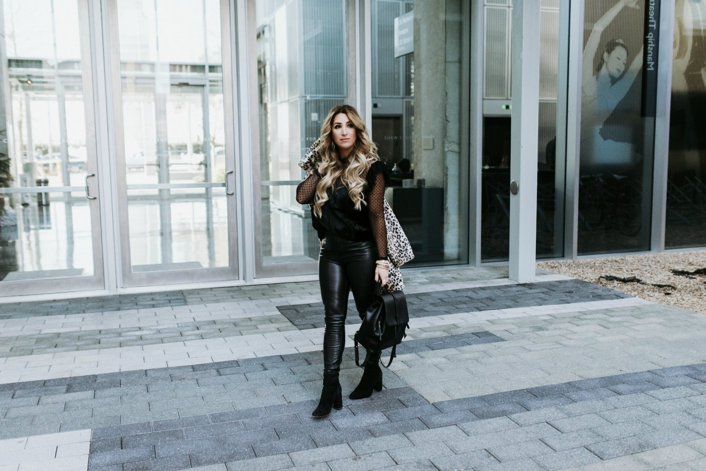 Another Way to Style your Faux Leather Leggings