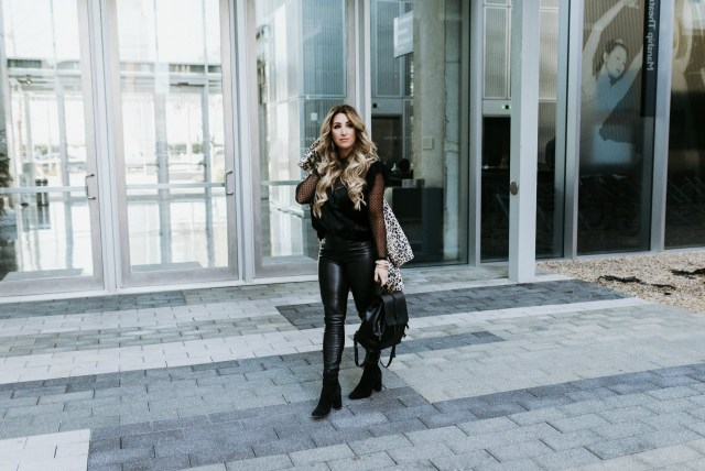 How to wear Leather Pants Casually