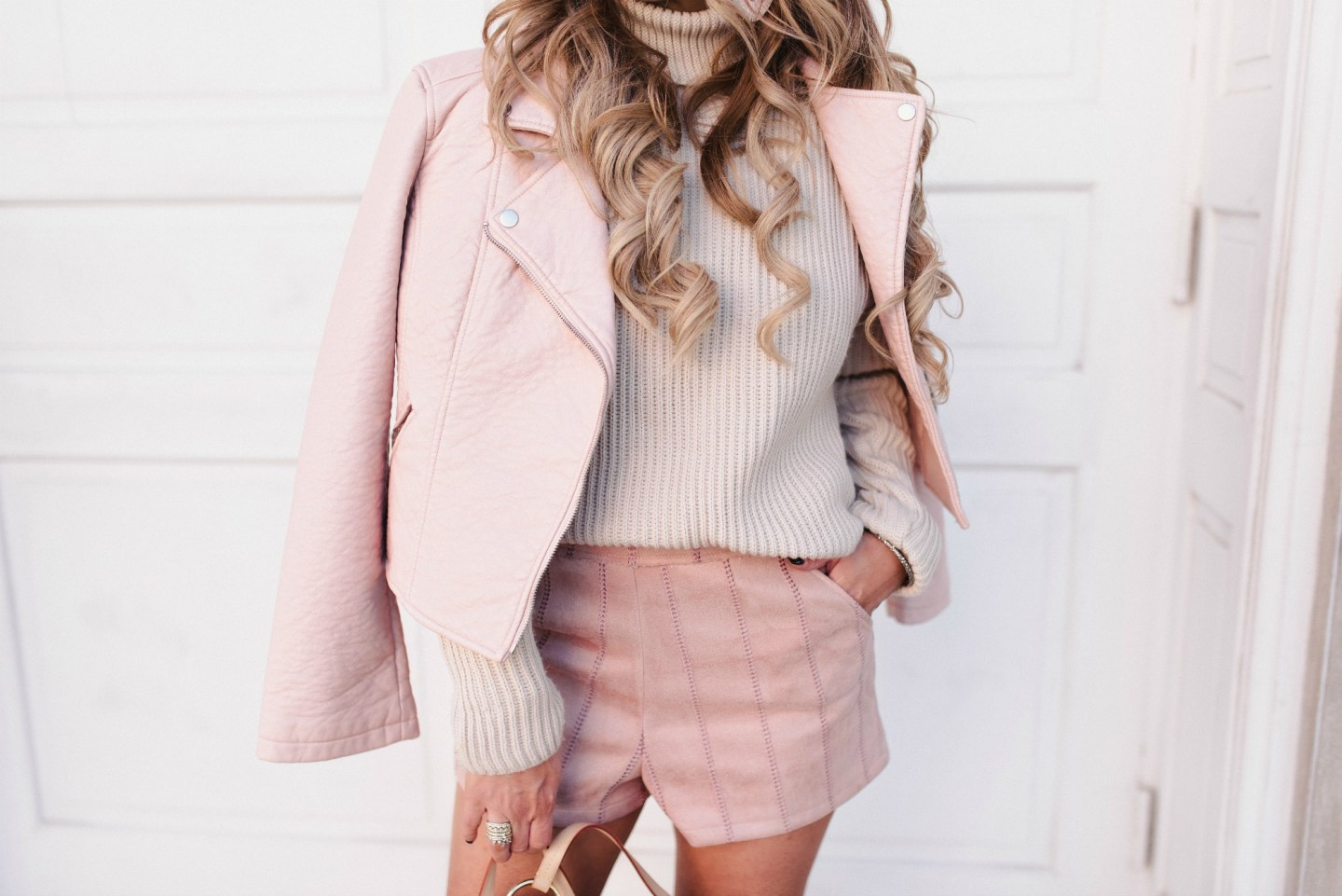Blush Outfits for Spring Transition