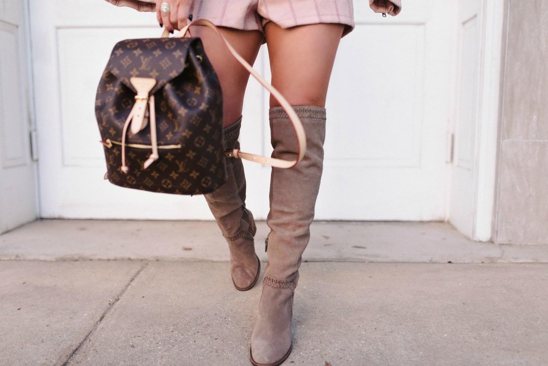 blush suede shorts 4