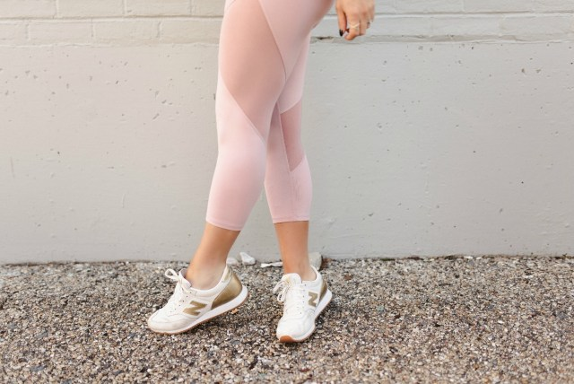 blush pink activewear leggings