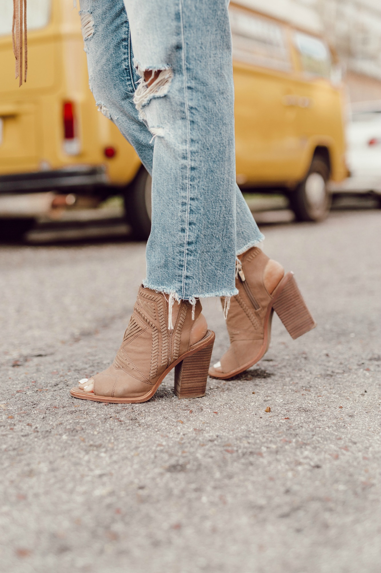 Affordable Fall open toe booties