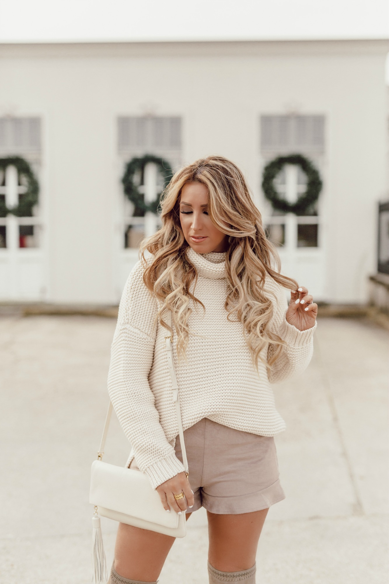 ivory chunky sweaters for women