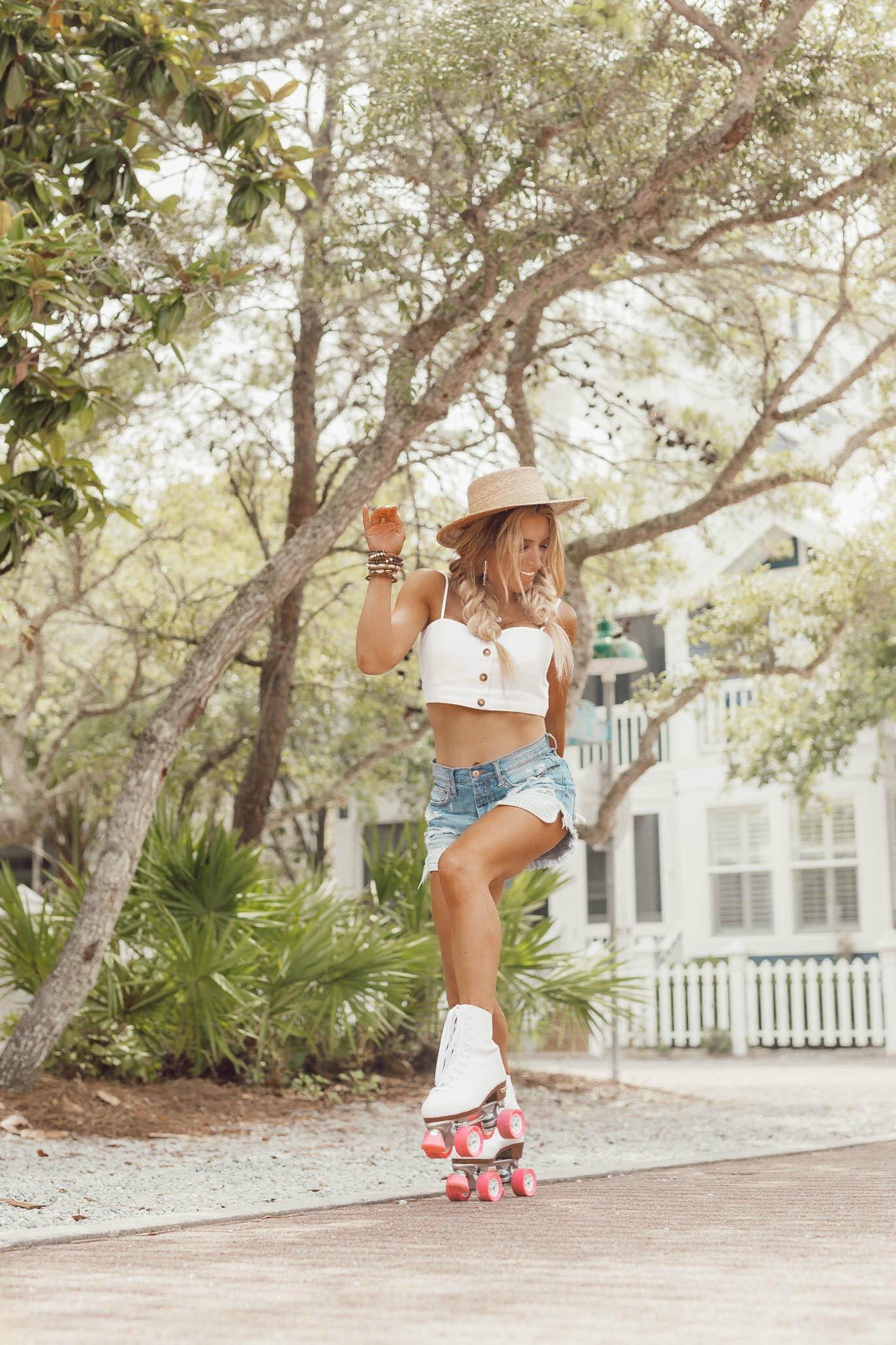 roller skate photo shoot