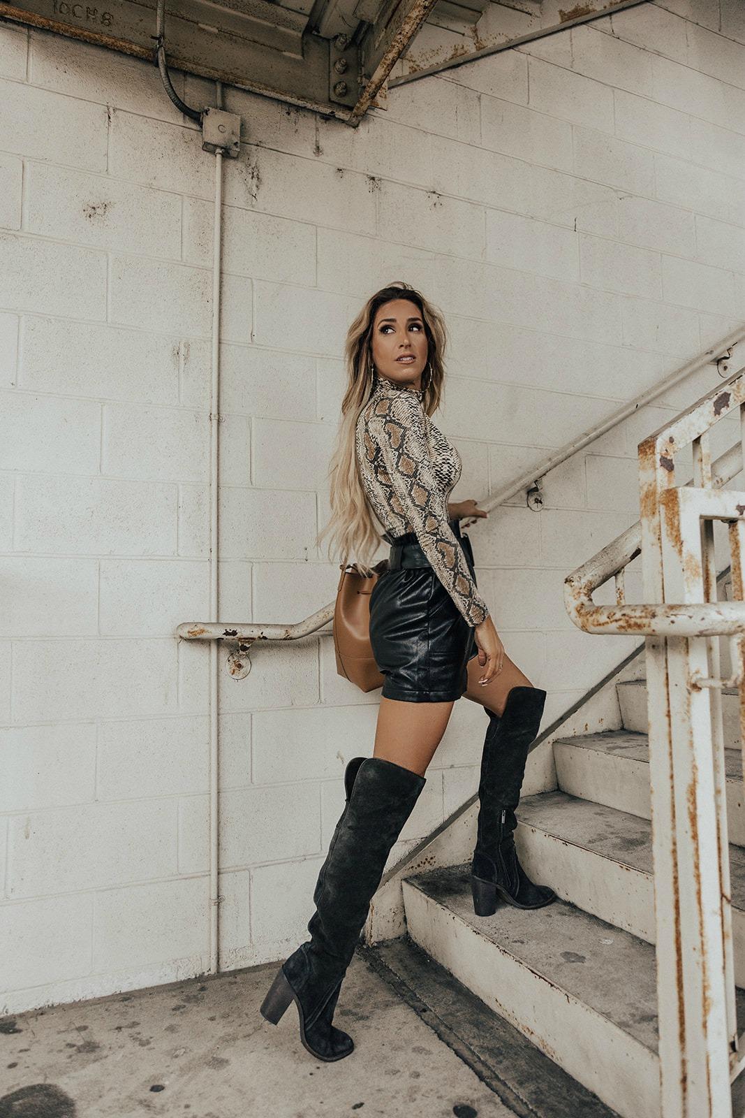 leather shorts 3