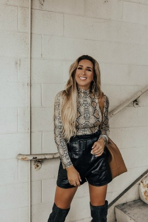 how to style a snakeskin bodysuit