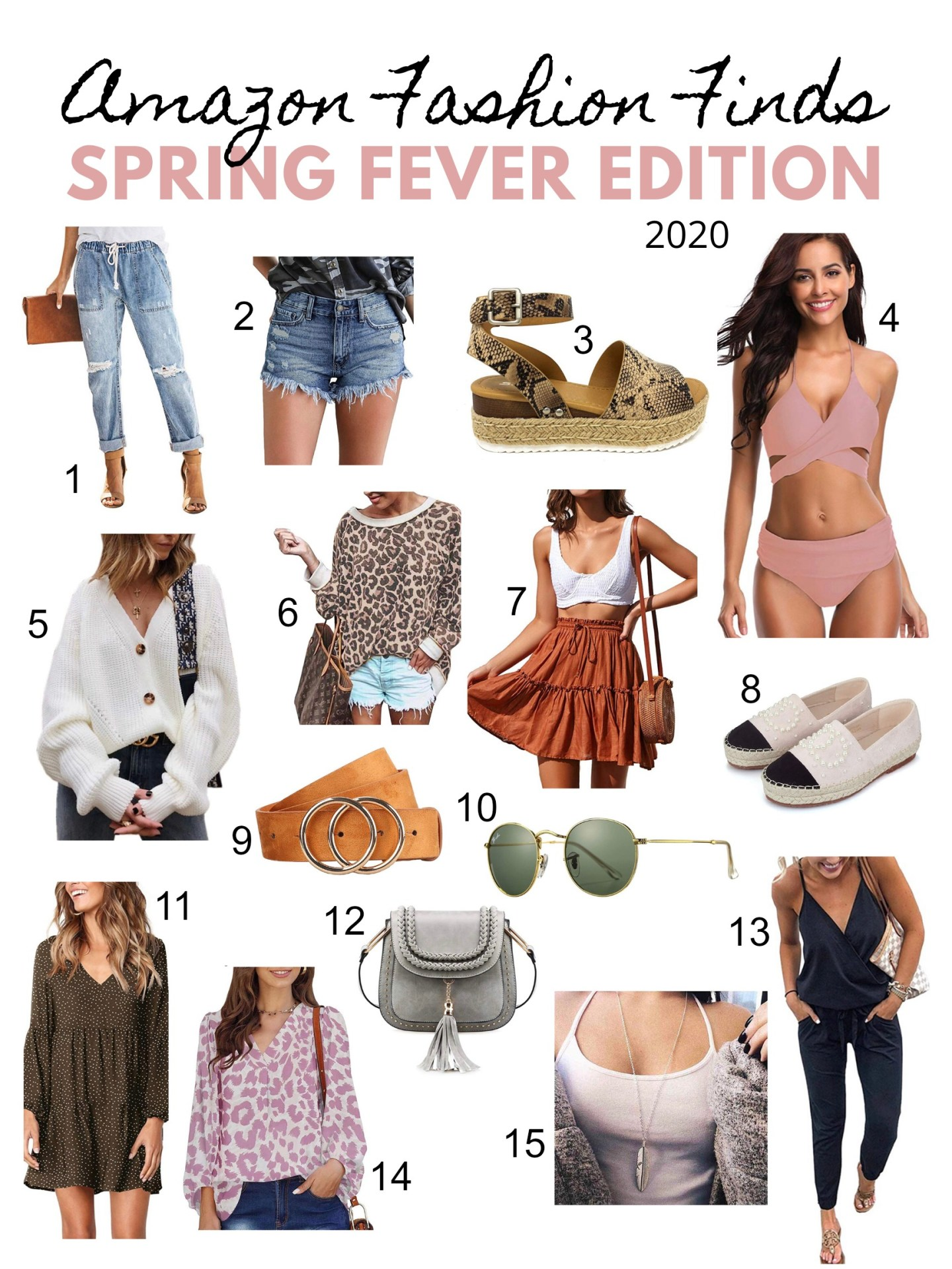 Amazon Spring Fashion Finds 2020 numbered