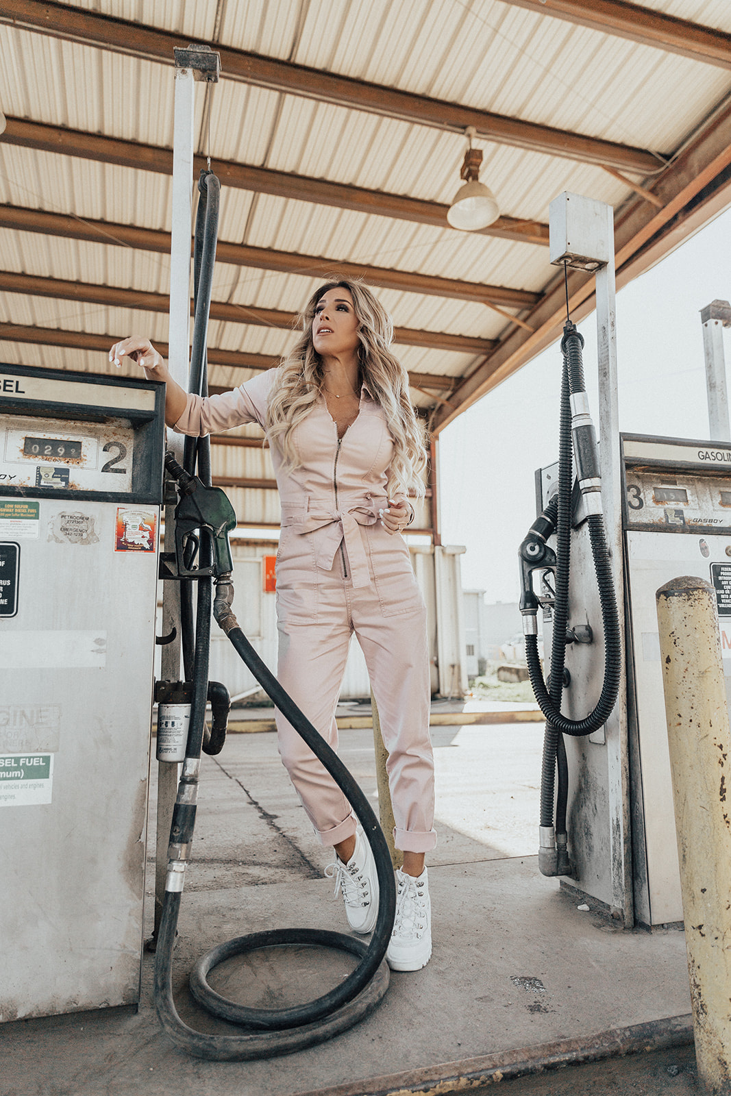 pink jumpsuit outfit