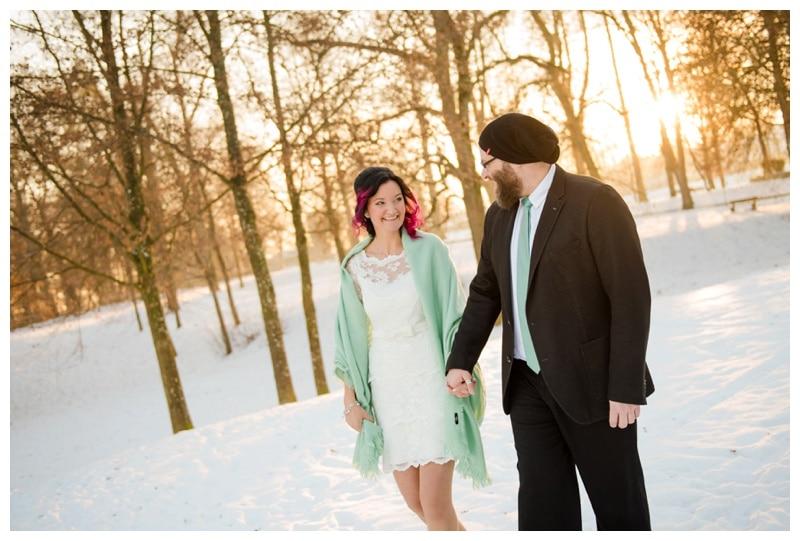 Hochzeitsfotograf Biberach  Hochzeit im Winter und