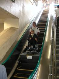 wheelchair manual chair design sketch japan accessible tourism center / transport escalator adapted