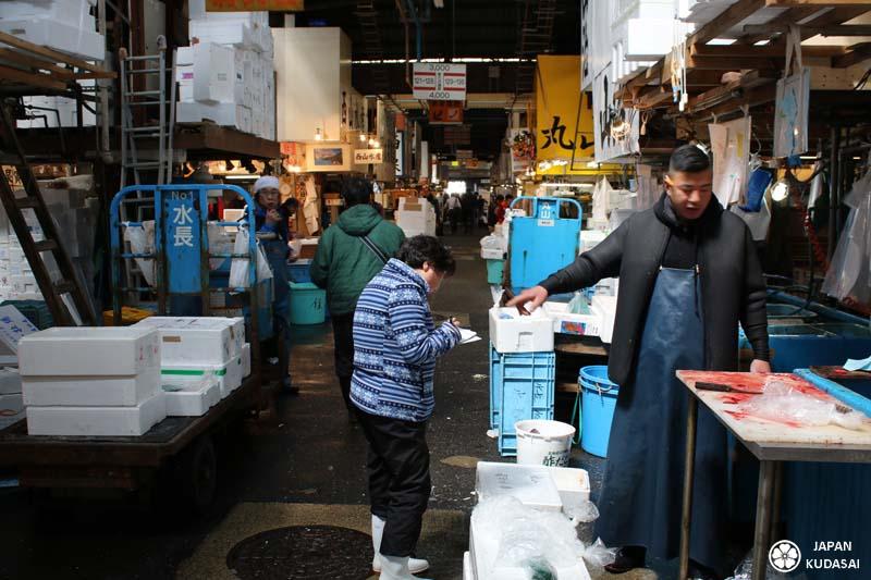 Négociation des prix aux marché de Tsukiji