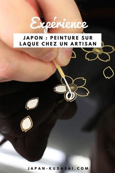 Japon - peinture sur laque chez un artisan