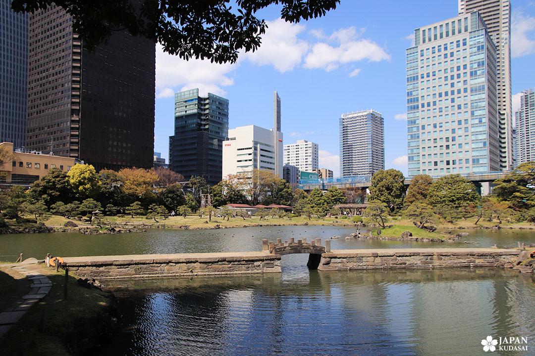 jardin kyu shiba rikyu à tokyo, minato