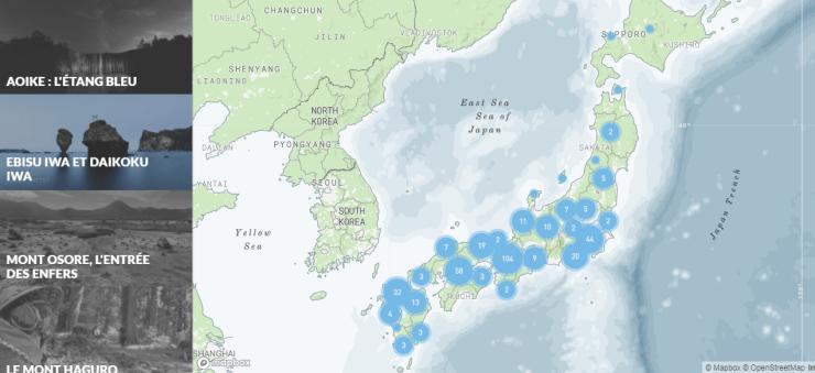 Jipangu est un nouveau site internet réunissant des blogs de voyage sur le Japon. Les articles sont partagés sur une carte touristique