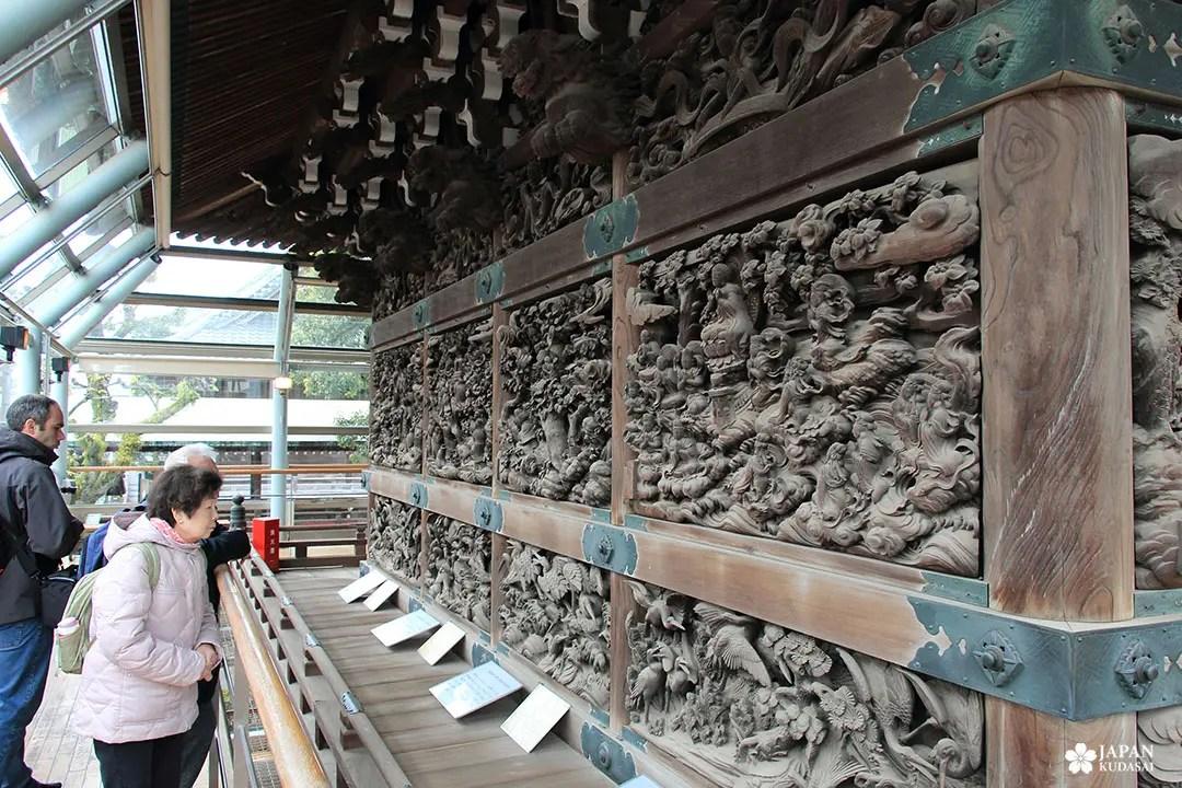 sculpture sur bois temple taishakuten shibamata