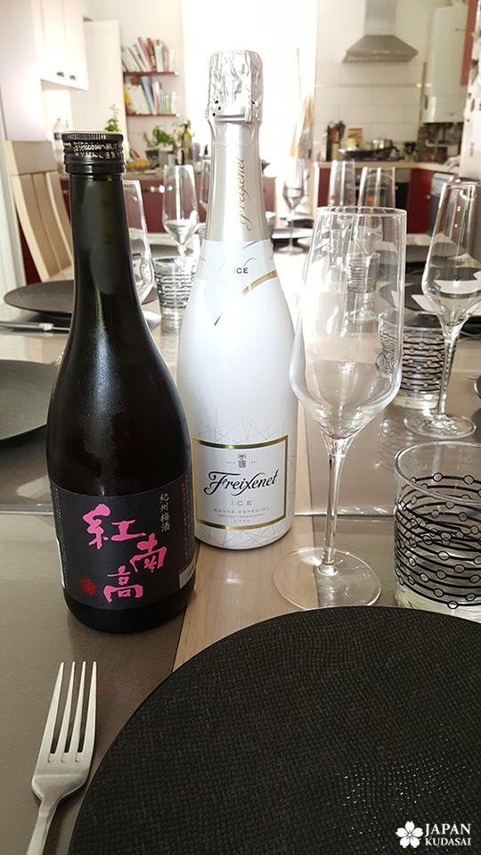 Cocktail Freixenet cava espagnol et umeshu japonais