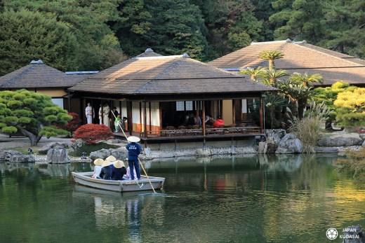 Jardin Ritsurin koen à Takamastu, préfecture de Kagawa, île de Shikoku au Japon