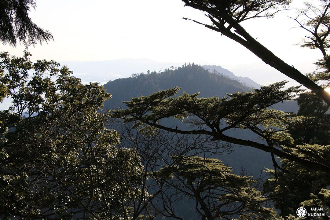ombre chinoise sommet mont misen miyajima