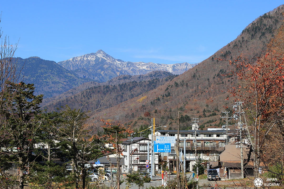 alpes japon altitude neige hirayu onsen bus terminal
