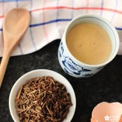 recette facile flan aux oeufs et au thé hojicha