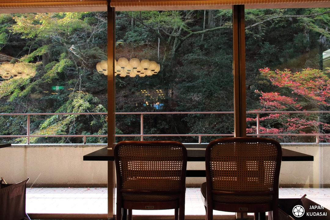 Salle du petit déjeuner du rykan Iwaso.