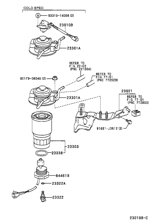 small resolution of 2001 corolla fuel filter
