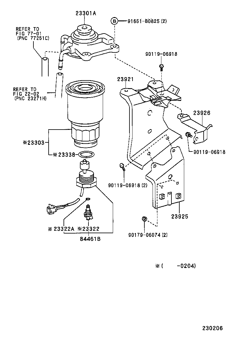 Location Of Fuel Filter Replacement 2005 Toyota Sienna