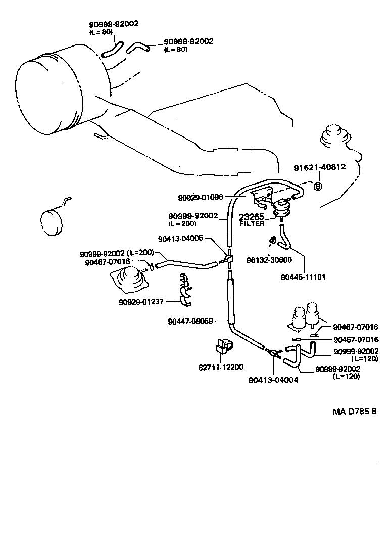 Toyota 20r Wiring Diagram Toyota Celica 20R Vacuum