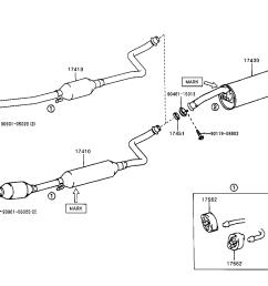 2001 toyota corolla exhaust system diagram [ 1592 x 1099 Pixel ]