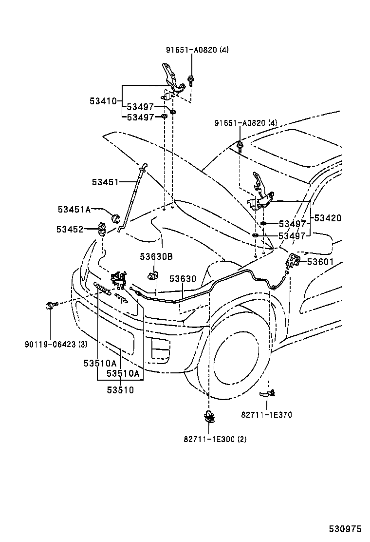 Toyota Rav4 Body Parts Diagram