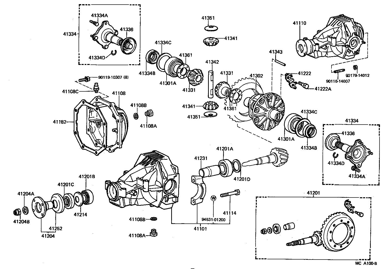 Toyota Hilux Rear Axle Diagram
