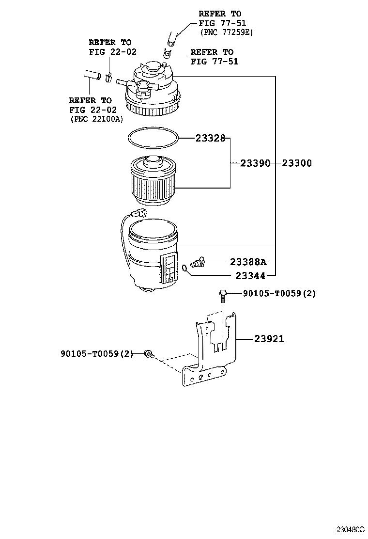 hight resolution of fortuner fuel filter