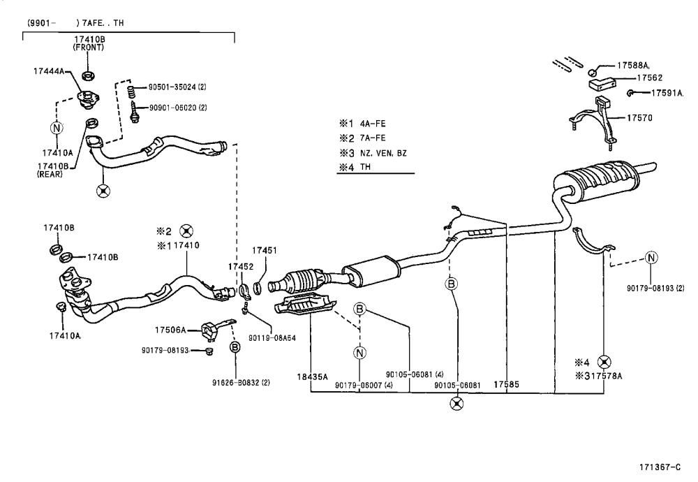 medium resolution of toyota corolla exhaust system diagram wiring diagram data val 2001 corolla exhaust diagram