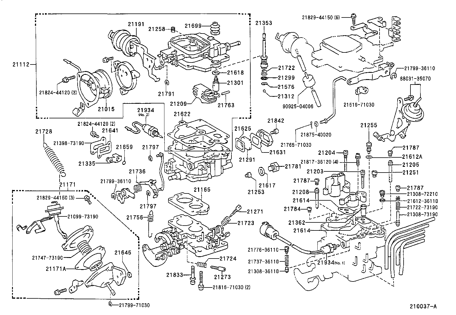 Toyota Pickup Parts Diagram