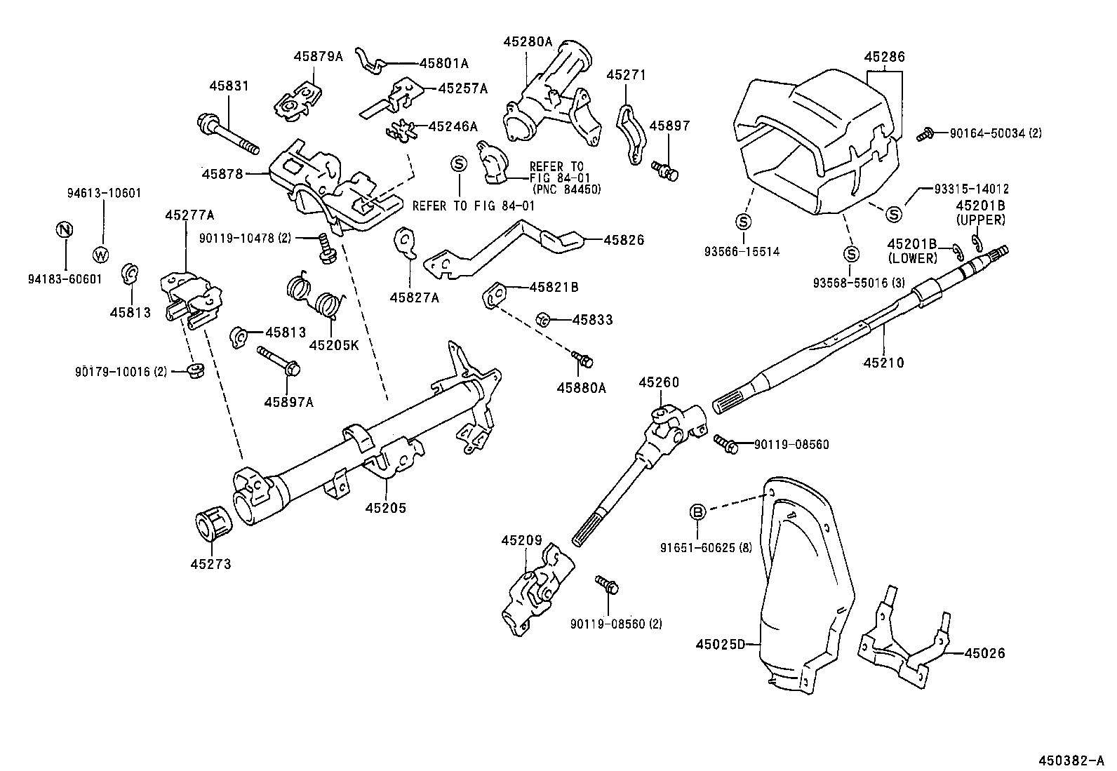 hight resolution of toyota corollaae110r aepek powertrain chassis steering 2000 toyota sienna steering column diagram toyota mark x 2004