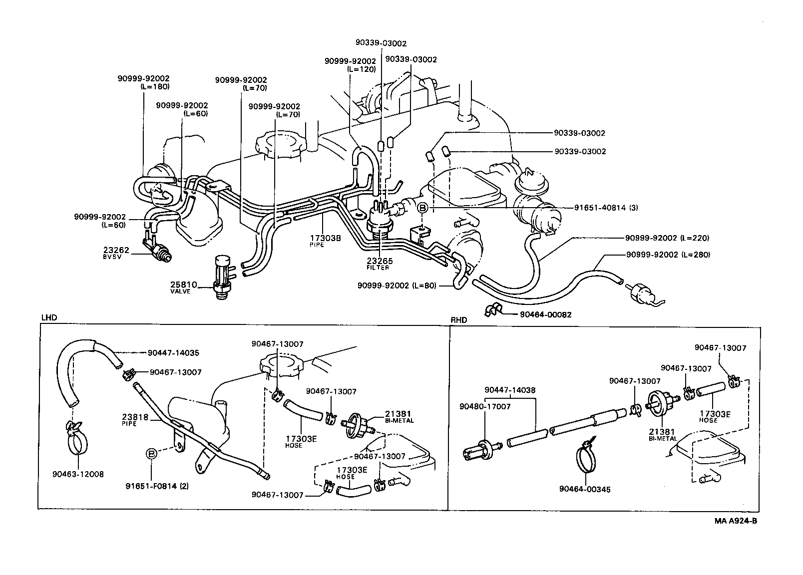 2000 toyota camry parts diagram dodge ignition wiring hilux 4runneryn106l-prmrs - tool-engine-fuel vacuum piping | japan eu